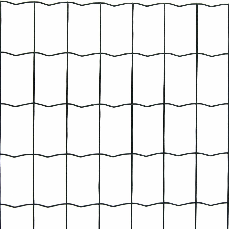 Estexo Gartenzaun 1,2x25 M Maschendraht Gitterzaun Maschung 7,5x5 cm Schwei/ßgitter Zaun
