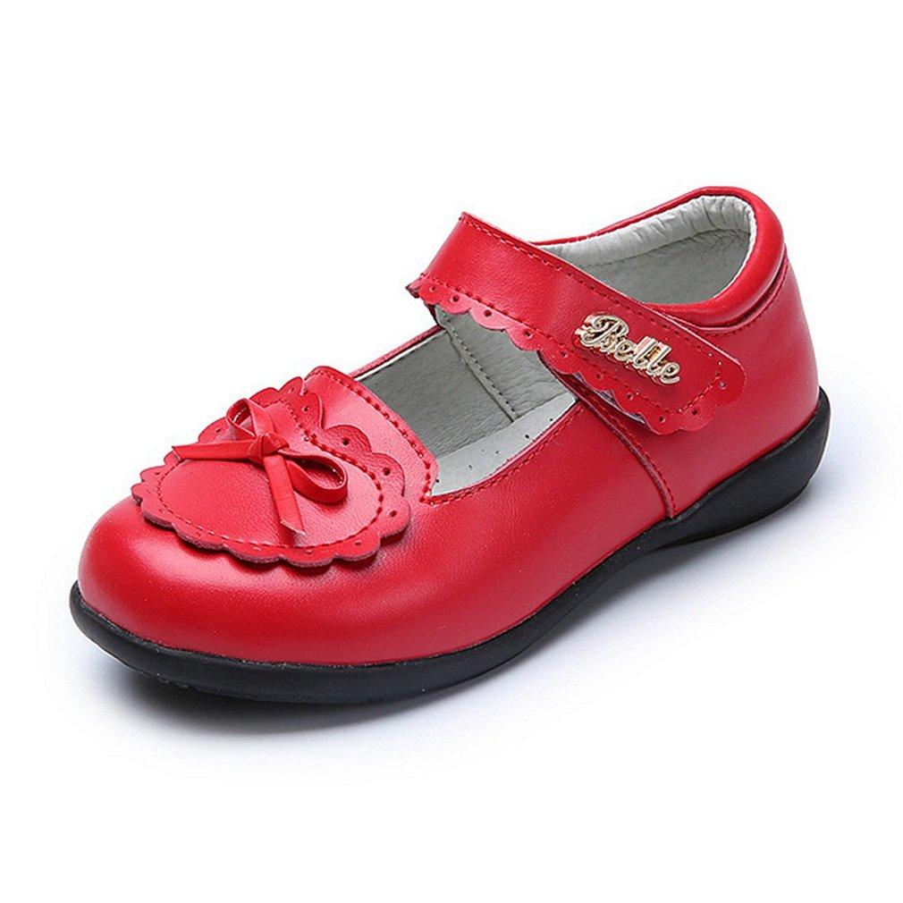 CYBLING Girls School Uniform Oxford Dress Shoes Bow Mary Jane Flats (Toddler/Little Kid/Big Kid)