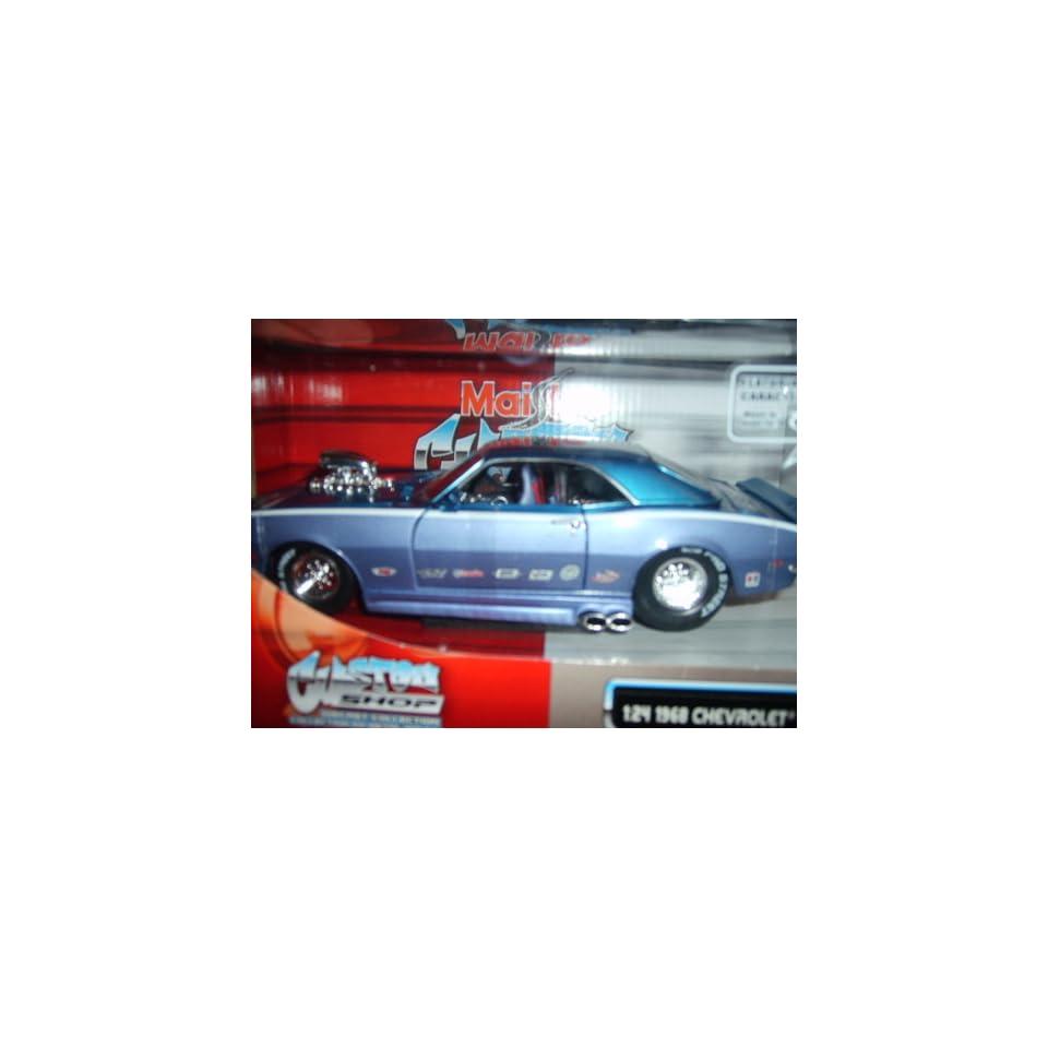 Maisto Custom Shop 124 1968 Chevrolet Camaro Z/28   Blue