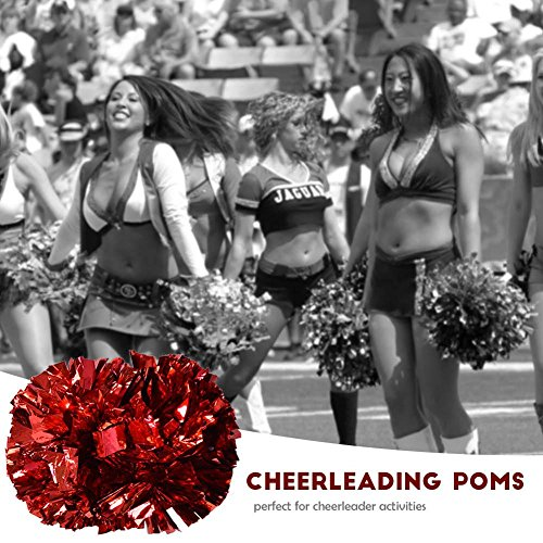Compétition École Sports Paire Cheerleader 1 Acclamations Poms Equipe Sportive Red Pour Aérobic Cheer Cheerleading Party Metalic Dance Tbest Pompoms Pom 6xWZ4A4p