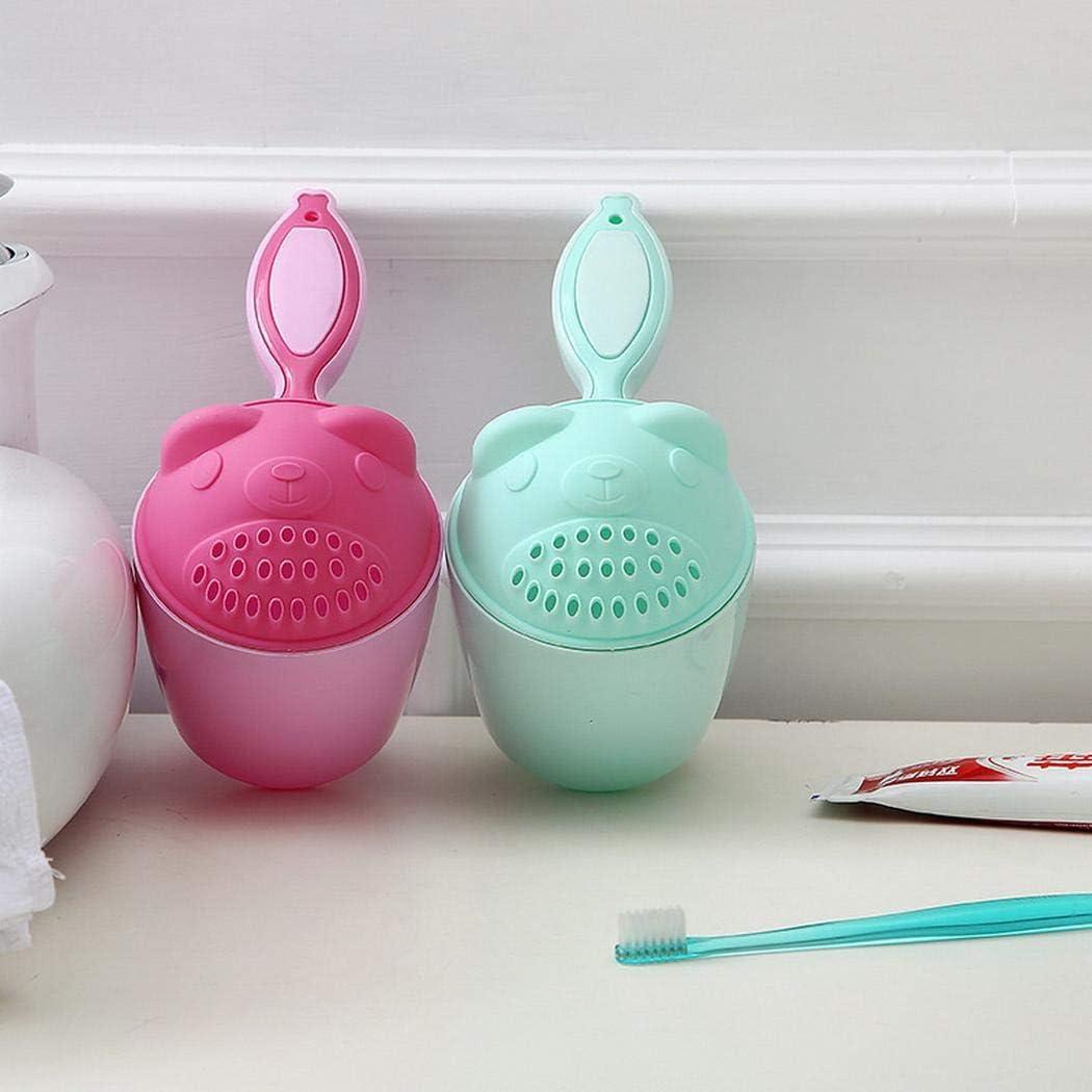 Piokikio 1pcs Baby Bath Product Cute Cartoon Baby Hair Shower Cup Baby Bath