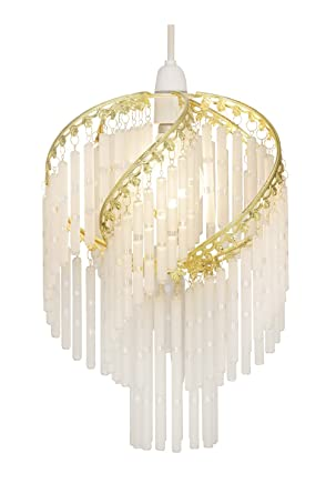 Oaks Lighting 420 PB Dara - Lámpara de techo con cristales ...