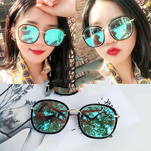 WCP Redondo Sunscreen Gafas Gafas C Cara polarizadas Cara Sol Gran C de Personalidad Elegante Sol Hombre de Sun rrwX0B