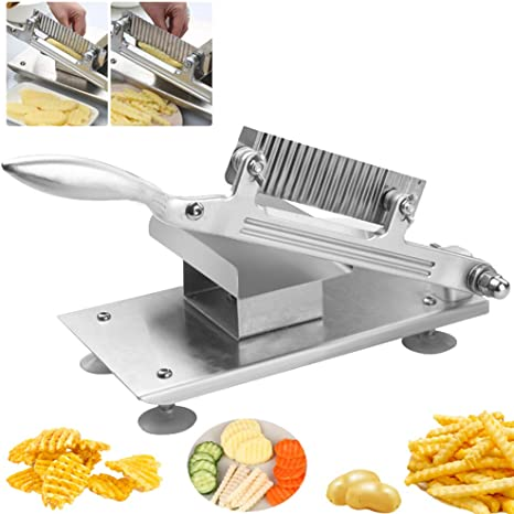 Crinkle Wavy Cutter Vegetable Potato Chip French Fries Slicer Stainless Steel