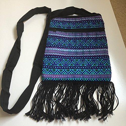 Thai Handmade Embroidery Cotton Hippie Hobo Boho Crossbody Shoulder Cellphone Coin Purse Bag