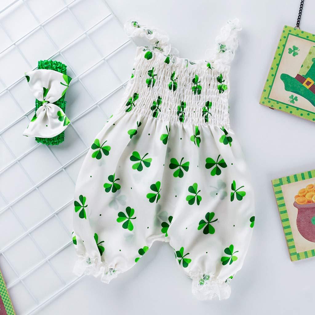 Tronet Baby onesie Toddler Baby Boy Girls St Patricks Day Sleeveless Romper Jumpsuit Clothes