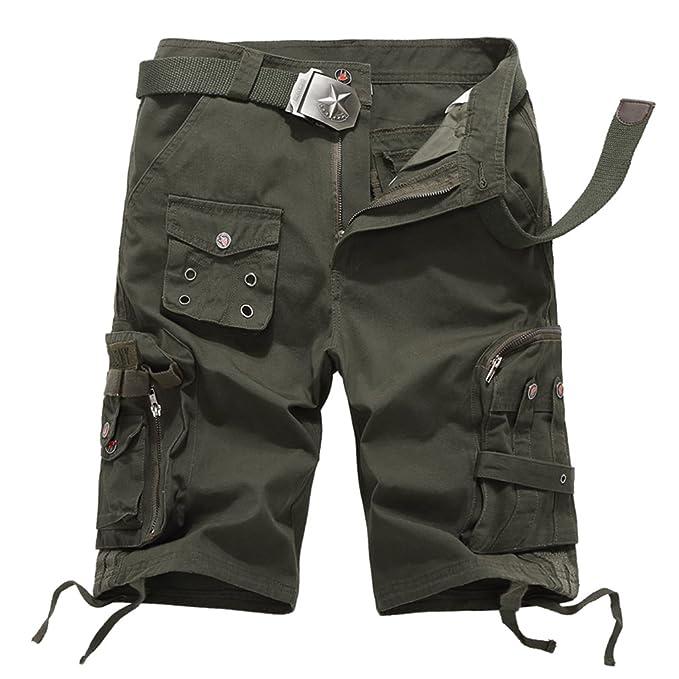 Men/'s Pants Combat Army Military Cargo Shorts Casual Pockets Short Pants Summer