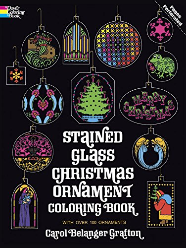 Stained Glass Christmas Ornament Coloring Book (Holiday Stained Glass Coloring Book) Stained Glass Christmas Tree