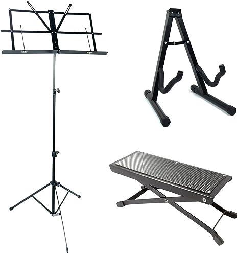 Juego de accesorios para guitarra Acandoo, atril, soporte para ...