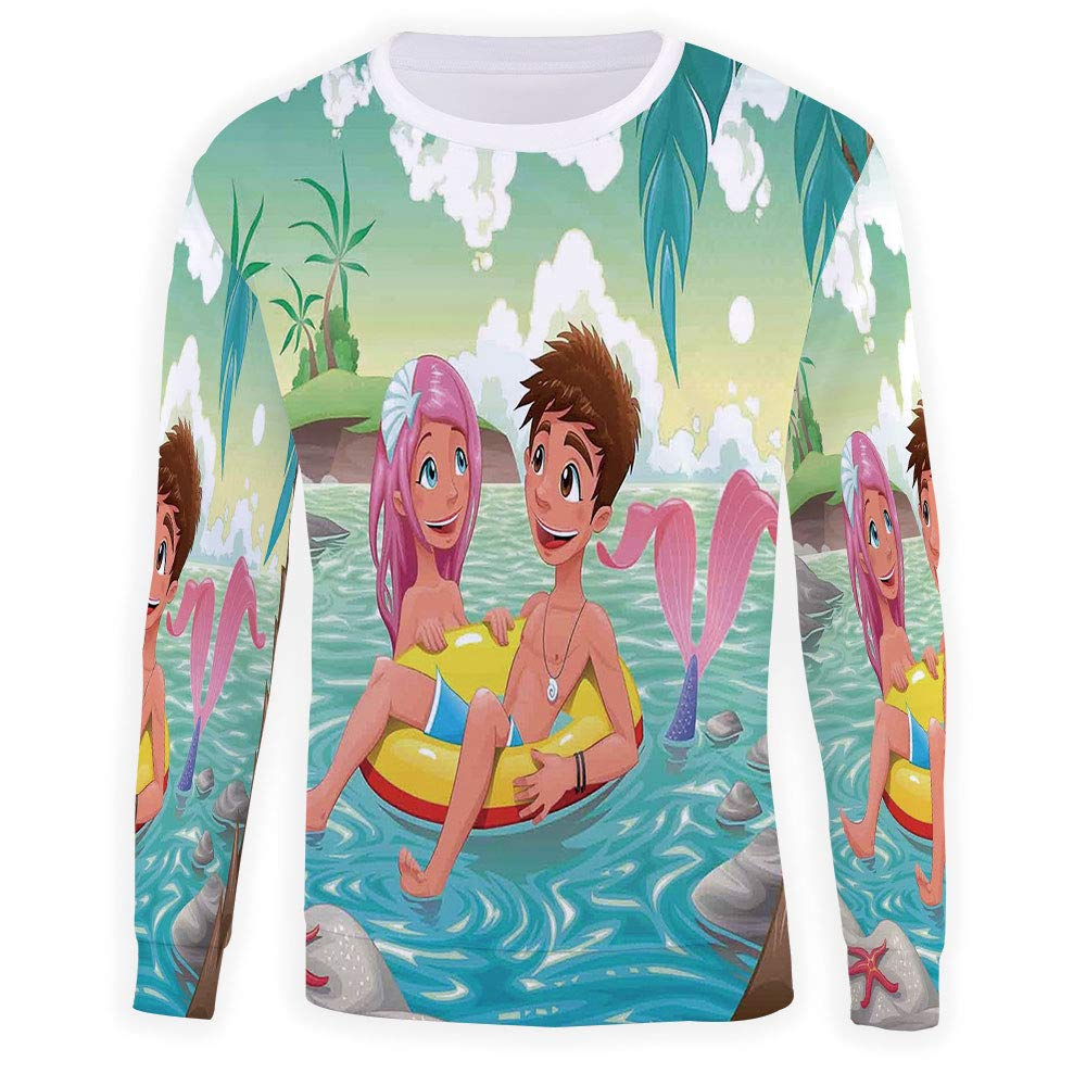 Mens Mermaid Sweatshirt Pullover