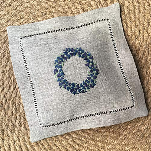 Hand Embroidered Lavender Pillow Sachet Bag