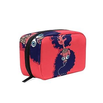 Travel Toiletry Makeup Bag African American Girl Pose Cosmetic Bags Women s  Portable Travel Kit Organizer  318c5b8897