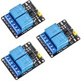 McIgIcM 3pcs 2 Channel DC 5V Relay Module for Arduino UNO R3 DSP ARM PIC AVR STM32 Raspberry Pi with Optocoupler Low…