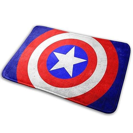 Amazon.com: Duwamesva - Felpudo, diseño de Capitán América ...