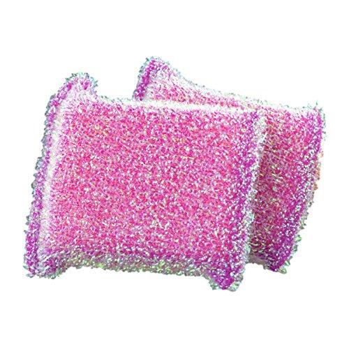 Casabella 2pk Sparkle Non-Stick Safe Scrub Sponge (Plum Purple)