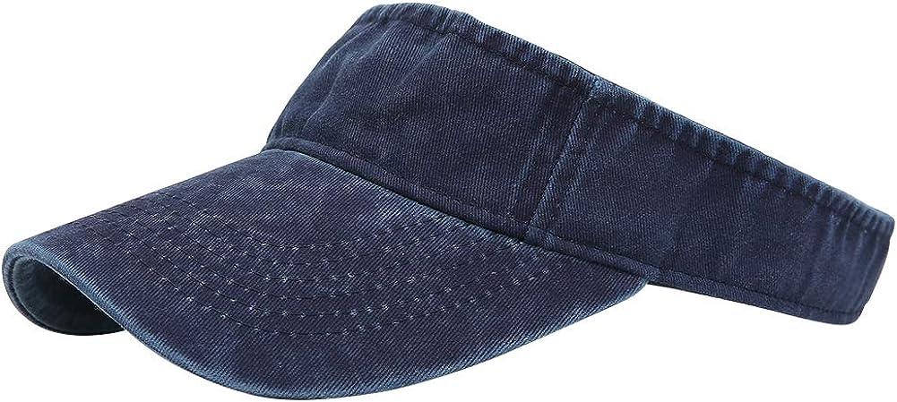 Sport Sun Visor Hats Cotton Ball Caps Empty Top Baseball Sun Cap for Men Women
