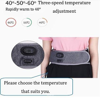 Kcanamgal Almohadilla Eléctrica De Grafeno para La Cintura Y El Abdomen, Ajuste De Temperatura De La Correa De Calentamiento USB 3 Ajuste De La Presión De ...