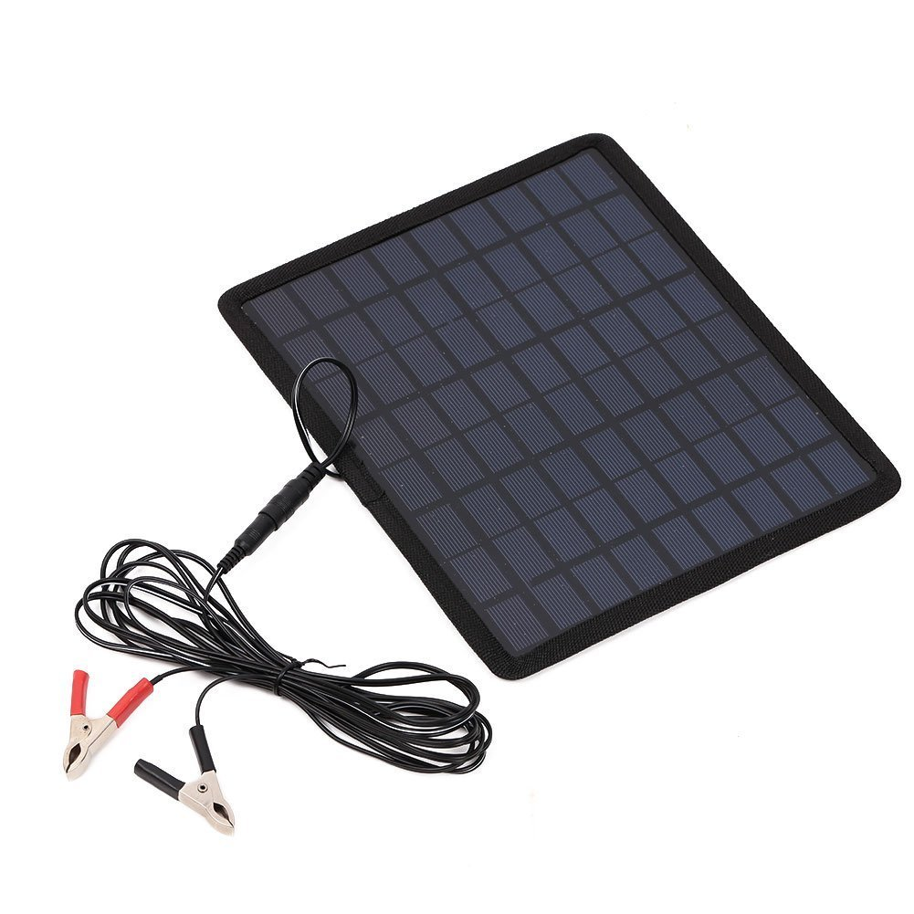 iMeshbean 12V 5W Portable Solar Panel Power Battery Charger Backup for Car Boat Automobile