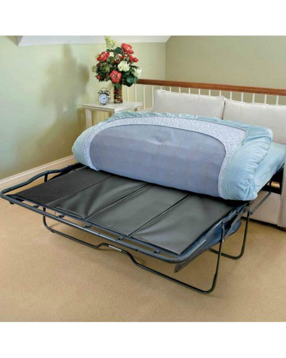 SRETAN Sofa Bed Bar Shield Black BLue Wood Composites PVC Sleeper Folding Support Board For Under Mattresses Living Room Twin Full Queen Size 48-60 x 28-60 x 0.25 inch (Full Open: 48 x 48 x 0.25 inch) by SRETAN