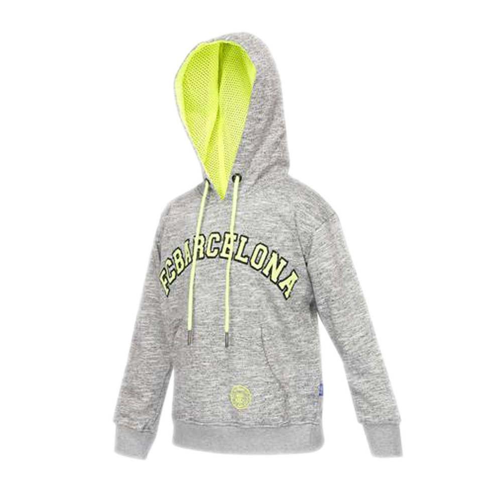 3cb7fcc4e FC BARCELONA Boys Hooded Printed Sweatshirt Grey  Amazon.in  Clothing    Accessories