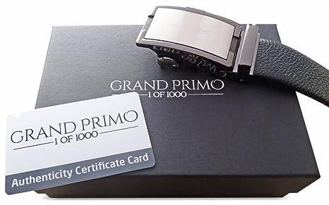 GRAND PRIMO® Montpellier Correa de Cuero de Lujo para Hombres – Edición Limitada con Solo