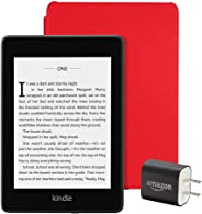 Kindle Paperwhite Essentials Bundle including Kindle Paperwhite - Wifi with Special Offers, Amazon Leather Cover, and Power A