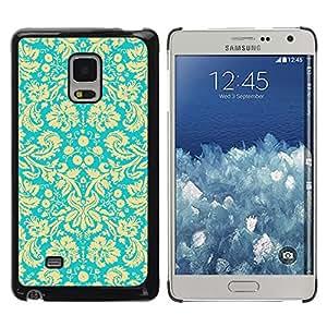 Be Good Phone Accessory // Dura Cáscara cubierta Protectora Caso Carcasa Funda de Protección para Samsung Galaxy Mega 5.8 9150 9152 // Royal Golden Wallpaper Vintage Retro Pattern
