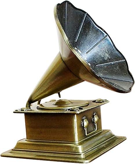 sharprepublic Retro Fonógrafo Modelo Vintage Tocadiscos Antigüedad ...