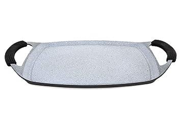 Infinity - Plancha de Asar - Aluminio Fundido Indeformable - (47*28 cm): Amazon.es: Hogar