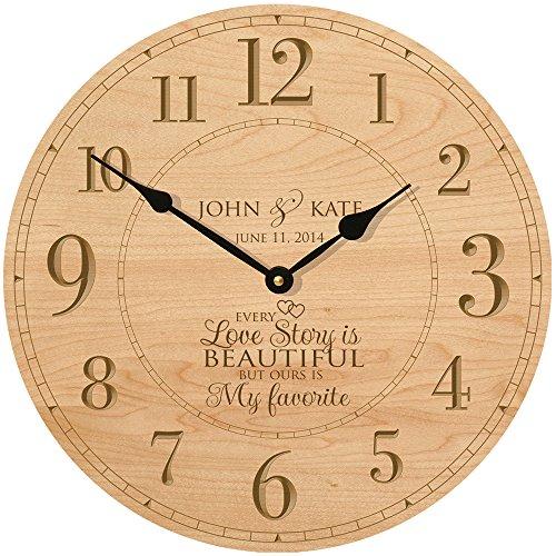 Wedding Wall Clock or Anniversary Clock Personalized Wedd...