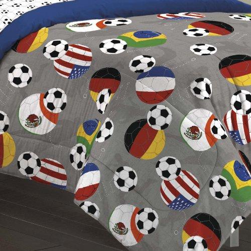 My space Soccer Fever Teen Bedding Comforter Set Gray Full