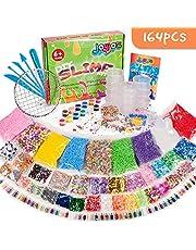 Joyjoz 164 PCS Slime Kit, Comprese Perline Fishbowl, Palline di Schiuma, Carta da Zucchero, Pigmenti, Modelli Animali, Fette, Coriandoli, Perline in Schiuma di Melma (Non contengono melma)