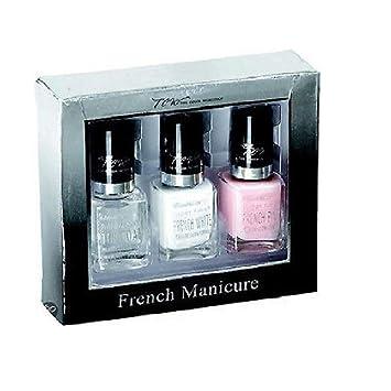 Amazon.com : Markwins Estuche Manicura Francesa 3 Pasos : Beauty