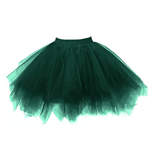 Honeystore Womens Short Vintage Ballet Bubble Puffy Tutu Petticoat Skirt