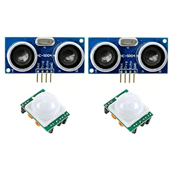 2 Pack de HC SR501 PIR pyroelec Electric IR Infrared Sensor de movimiento + HC-