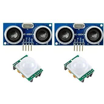 2 Pack de HC SR501 PIR pyroelec Electric IR Infrared Sensor de movimiento + HC-