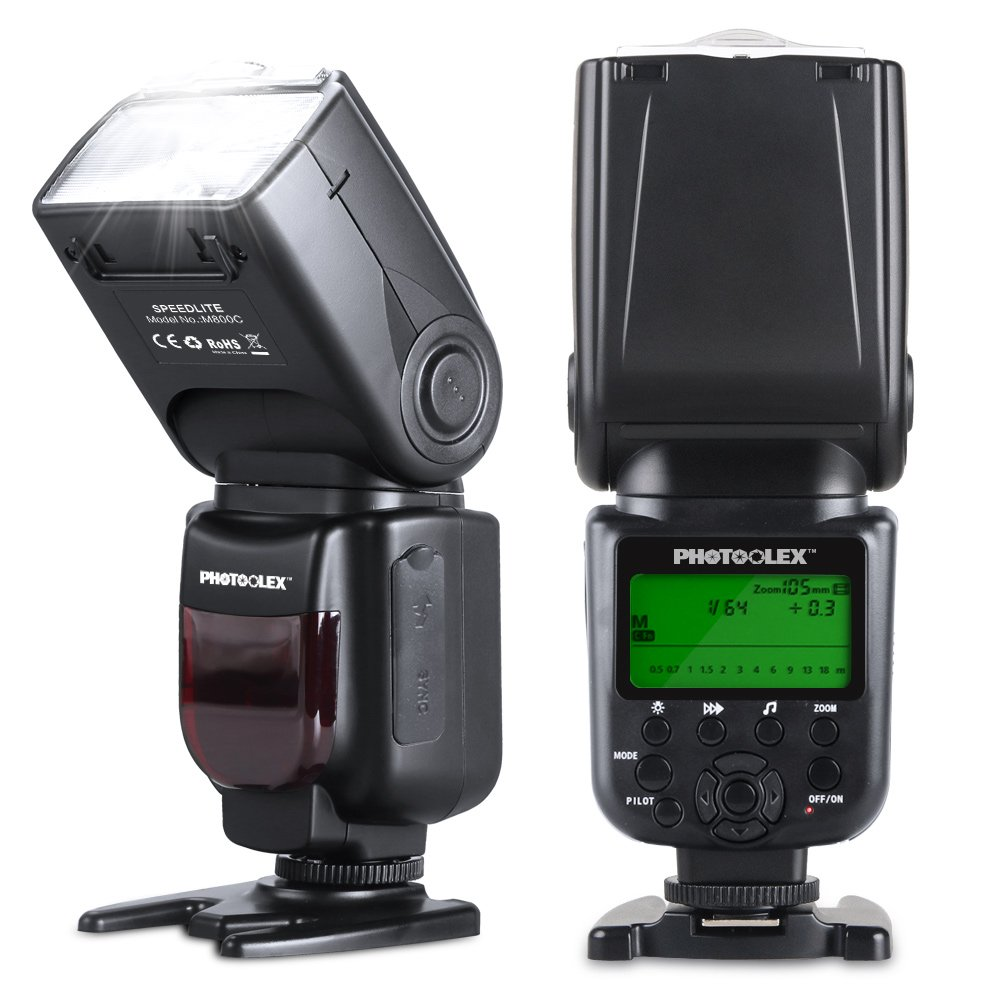 Photoolex M800C Powerful Flash Speedlite 580EX II TTL 1/8000s Canon Flash for Canon 1Ds Mark III, 1Ds Mark II, 1D Mark IV, 1D Mark III EOS 700D 650D and Other Canon Digital DSLR Cameras