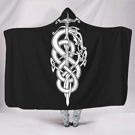 Espada Serpiente Nudo Estampado del Tatuaje Mantas Ligero