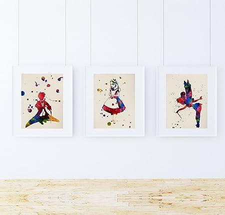 Nacnic Pack de láminas para enmarcar MIS Cuentos. Posters Estilo Acuarela con imágenes de Cuentos Infantiles. Decoración de hogar. Láminas para enmarcar. Papel 250 Gramos: Amazon.es: Juguetes y juegos
