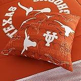 Sports Coverage NCAA Texas Longhorns All Over Toss Pillow, 17'' x 17'', Dark Orange