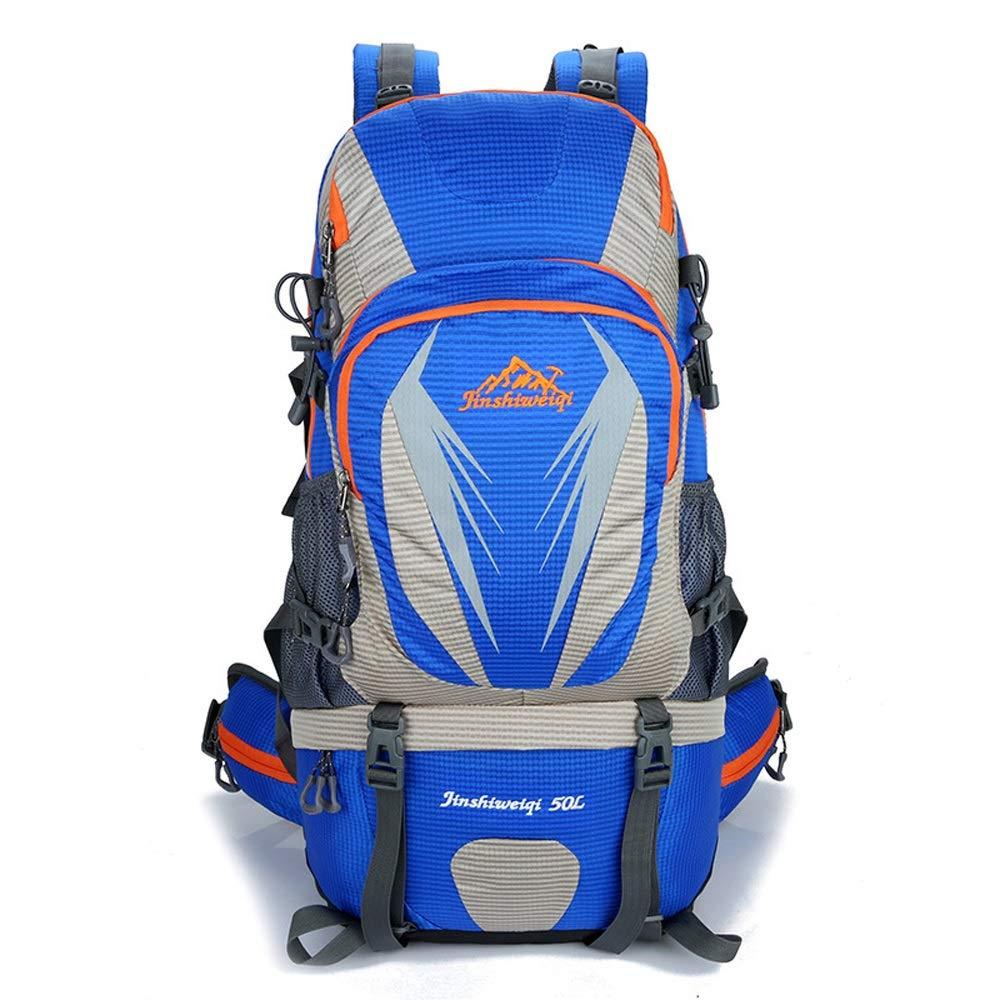 JESSIEKERVIN JESSIEKERVIN JESSIEKERVIN YY3 Senderismo Mochila de Viaje Impermeable a Prueba de Agua con Cubierta de Lluvia para Escalar Acampar Alpinismo (Color   Azul) 4b6192