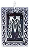 """Dan's Jewelers Celtic Knot Initial Necklace Pendant with Irish Design, Letter """"M"""", Fine Pewter Jewelry"""