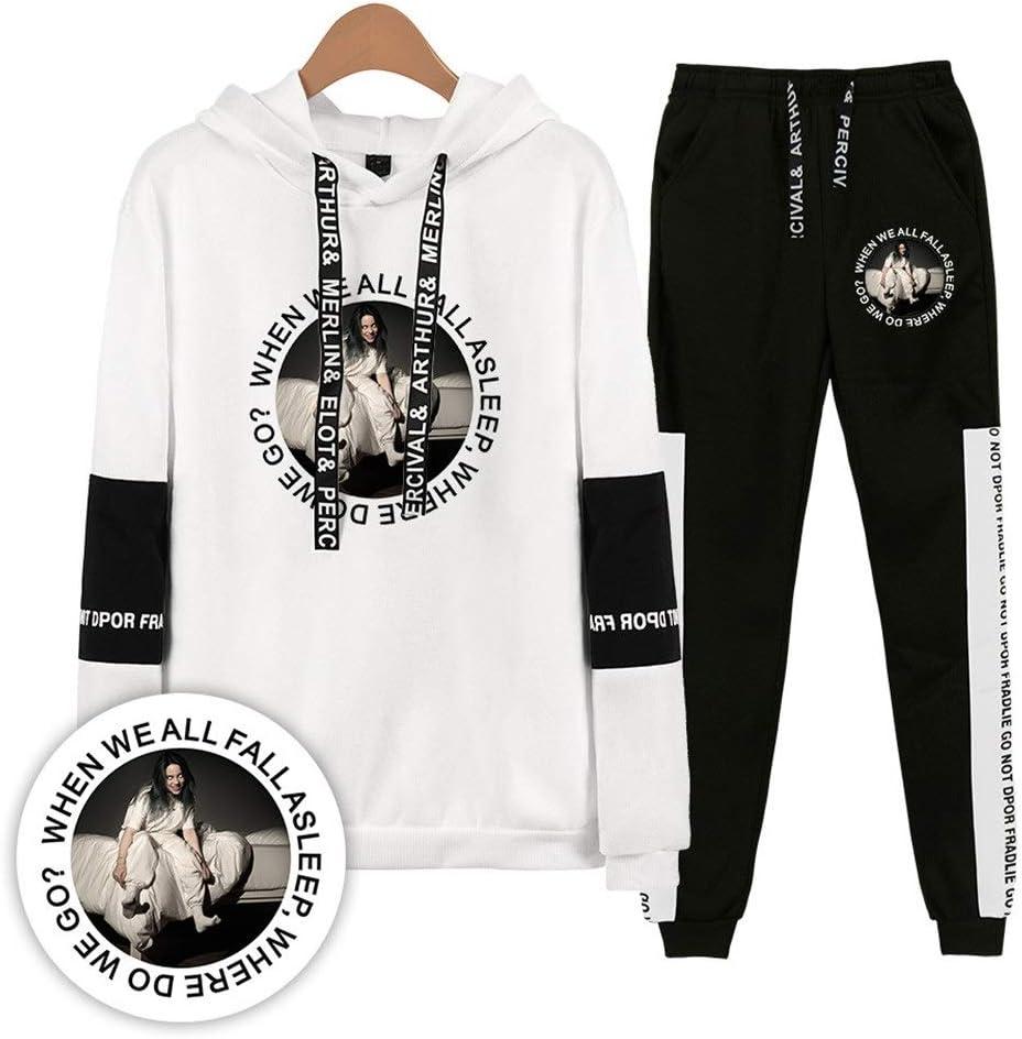 AAZZYUN Unisex Billie Eilish Sweatshirt Pullover T-Shirt Hose for 2-teiliges Set Mode K/ühlen Pullover Langarm-T-Shirt