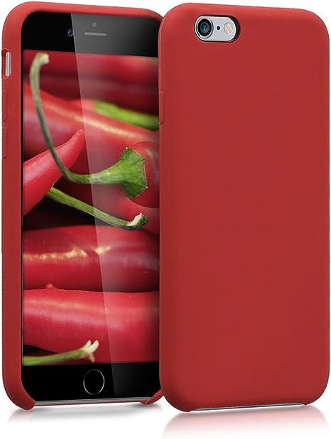 kwmobile Cover Compatibile con Apple iPhone 6 / 6S - Cover Custodia in Silicone TPU - Back Case Protezione Cellulare Rosso Scuro