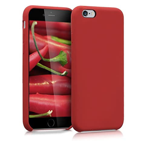 kwmobile Funda compatible con Apple iPhone 6 / 6S - Carcasa de TPU para móvil - Cover trasero en rojo oscuro