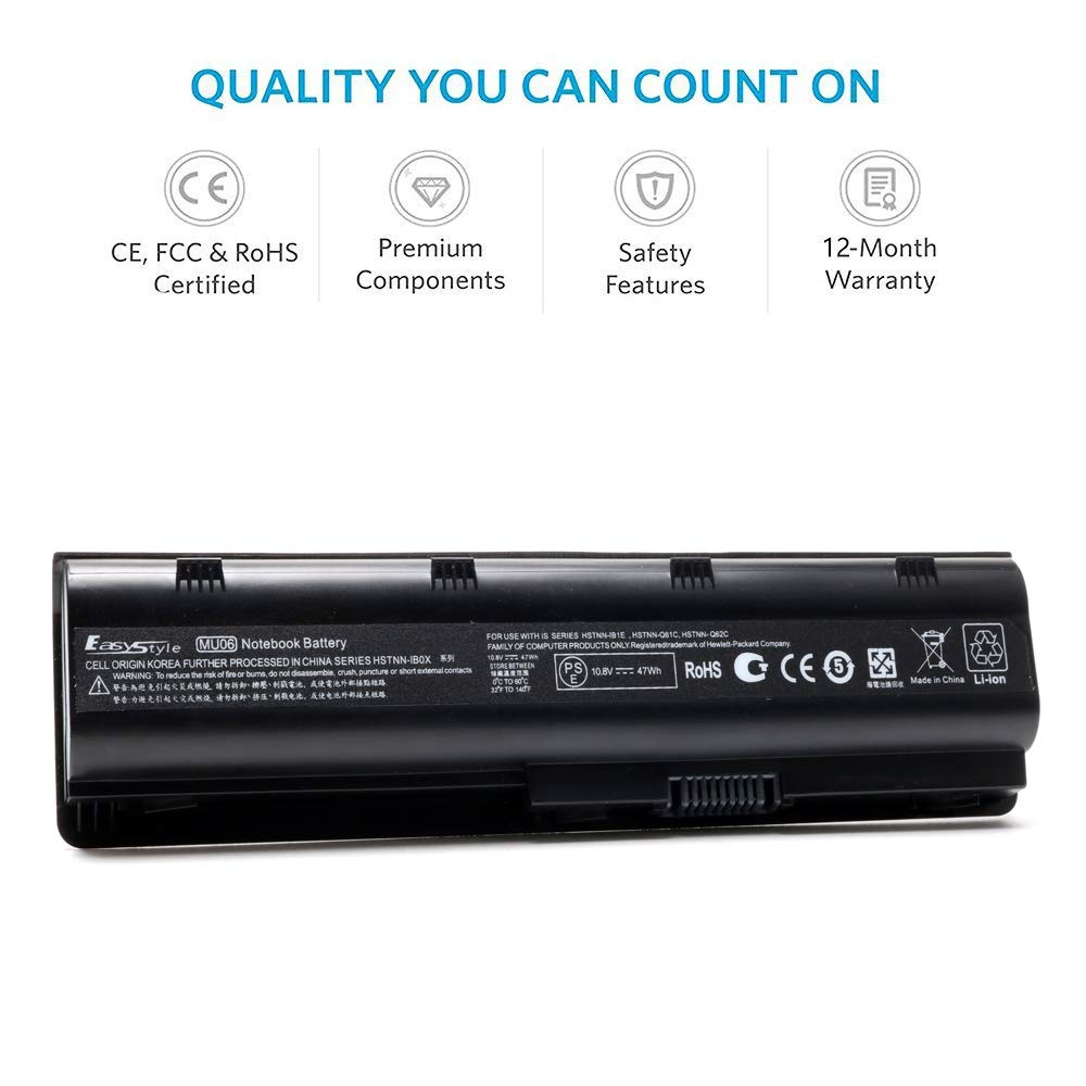 Amazon.com: 10.8V 47WH Replacement Laptop Battery for HP Pavilion G6 G7 G6-1D38DX G6-1d21DX G6-1A30US G7-1260US MU06 MU09 Spare 593554-001 593553-001: ...