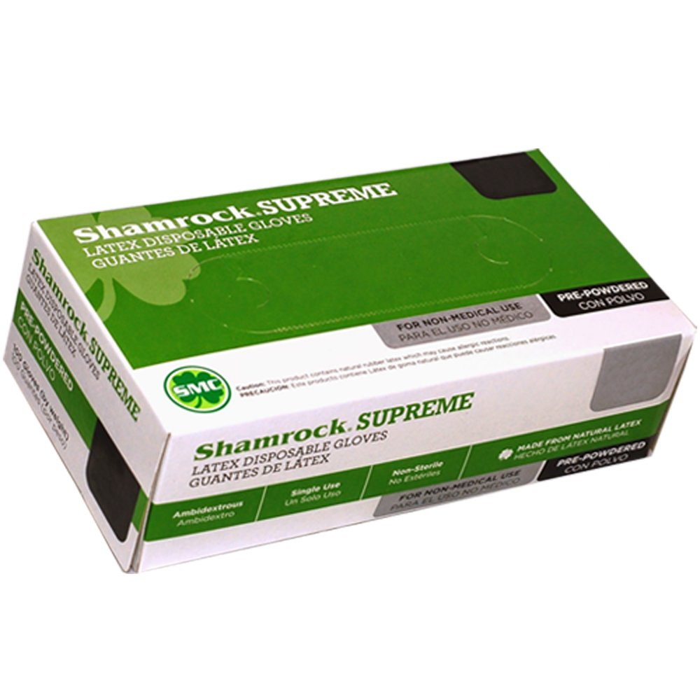 Shamrock 61504-XL-cs Work, Cheap Powdery, Slick Surface ,Rubber, X-Large, Natural by Shamrock