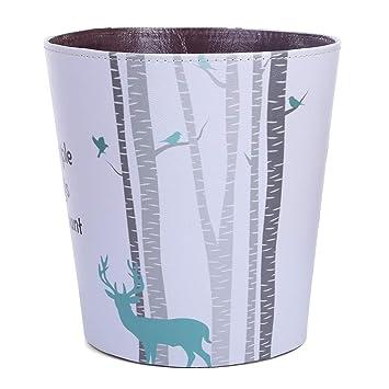 Batop Papierkorb Kinder, 10L PU Leder Wasserdicht Papierkorb ...