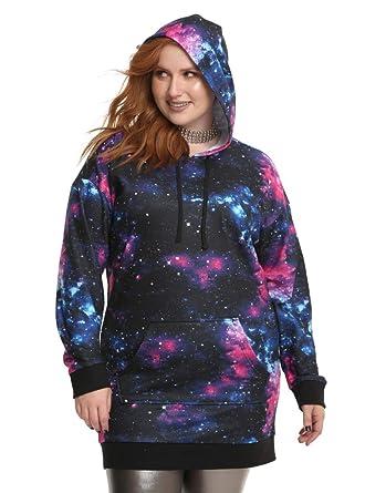 Hot Topic Galaxy Hoodie Dress Plus Size Black at Amazon Women\'s ...