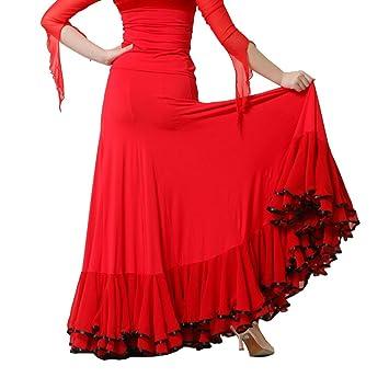 Q-JIU Baile De Salón Pantalones Y Faldas Mujer Rendimiento Fibra ...